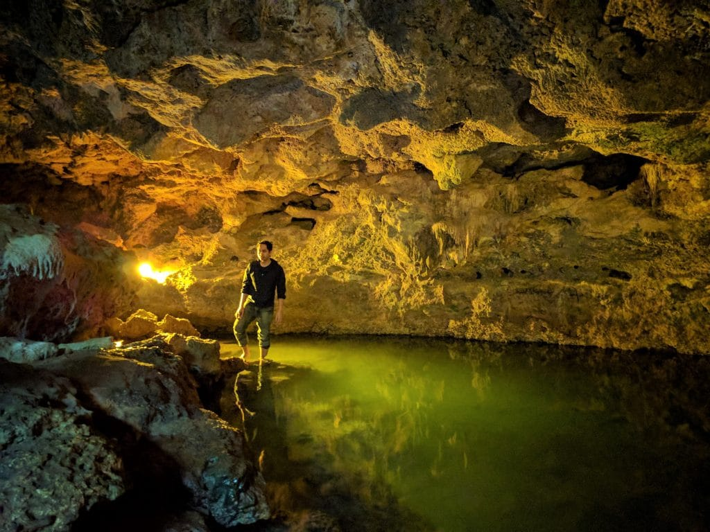 Just me standing on the spring-fed cave pool in Bantayan Island Nature Park and Resort