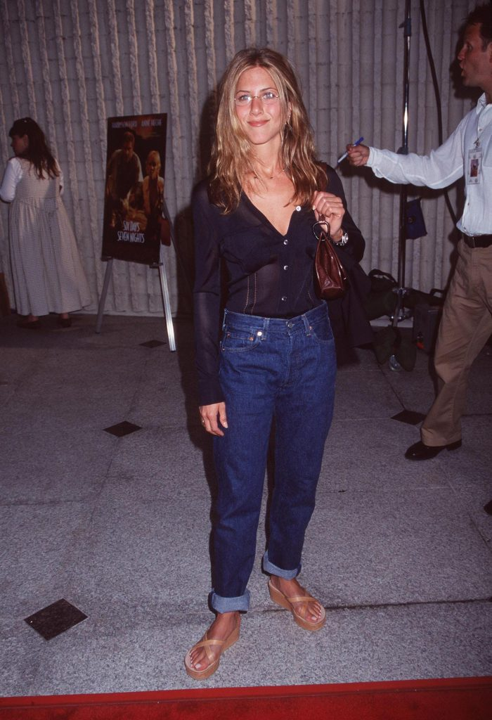 Jennifer Aniston as the poster girl for low-key 90s style