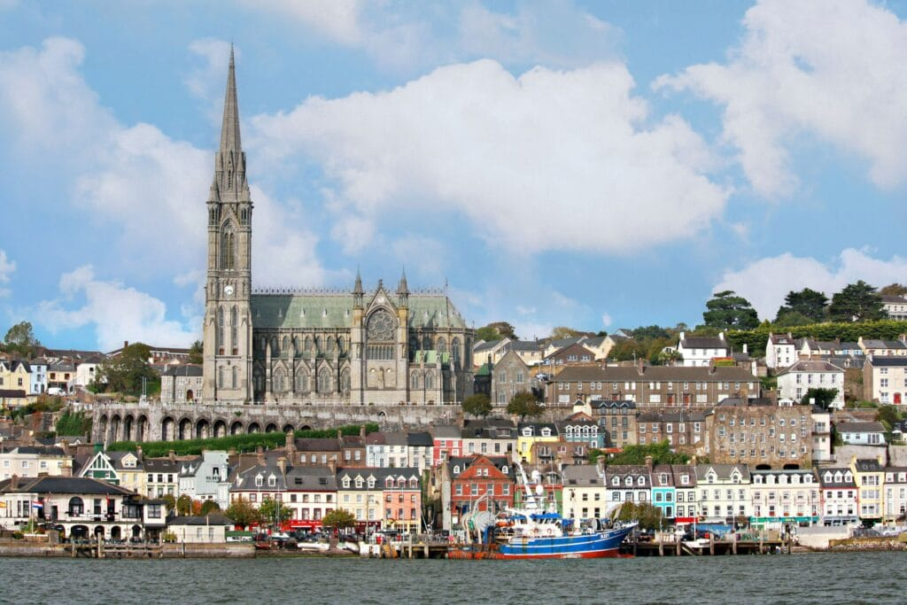 Managed to capture this view of the Cobh, Ireland skyline from the water, on our way back from Spike Island.