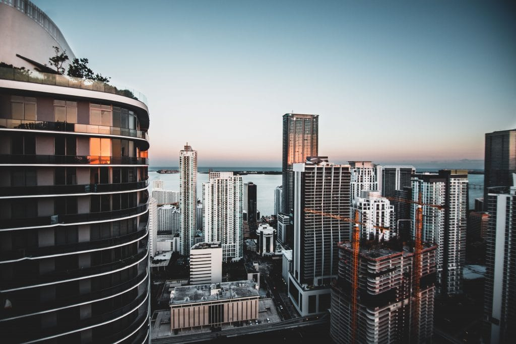 Photo from the top of my apartment complex in Brickell, Miami Florida.